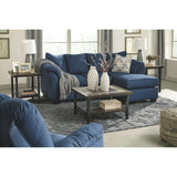 Darcy II Sofa Chaise - Blue
