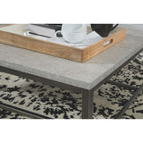Columnar Coffee Table - Light Gray