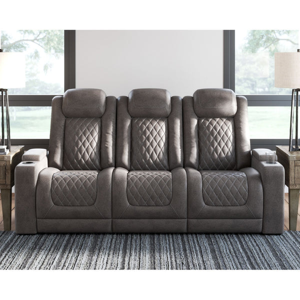 HyllMont Power Reclining Sofa - Gray