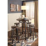 Challiman  Bar Stool - Rustic Brown
