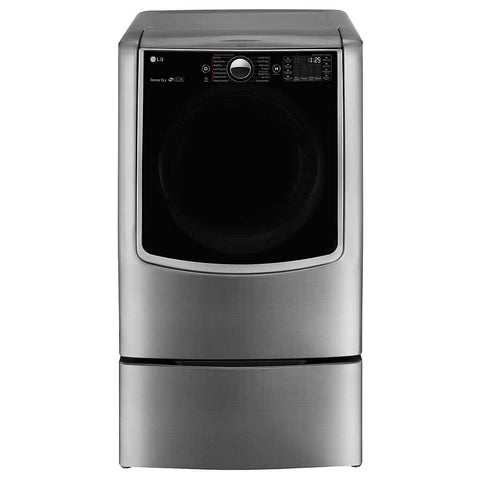 LG 9.0 cu.ft. MEGA Capacity TurboSteam™ Dryer with On-Door Control Panel