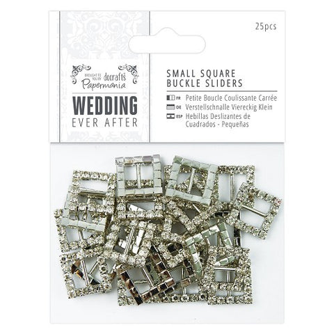 Small Square Buckle Sliders (25pcs) - Wedding