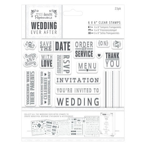 "Papermania 6 x 6"" Clear Stamps - Sentiments"