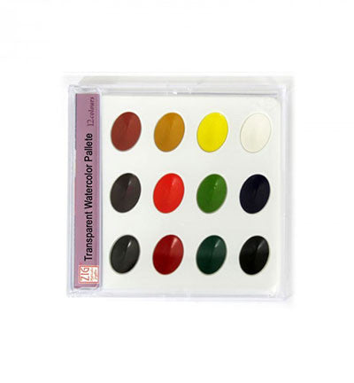 Transparent Watercolor Pallete Box