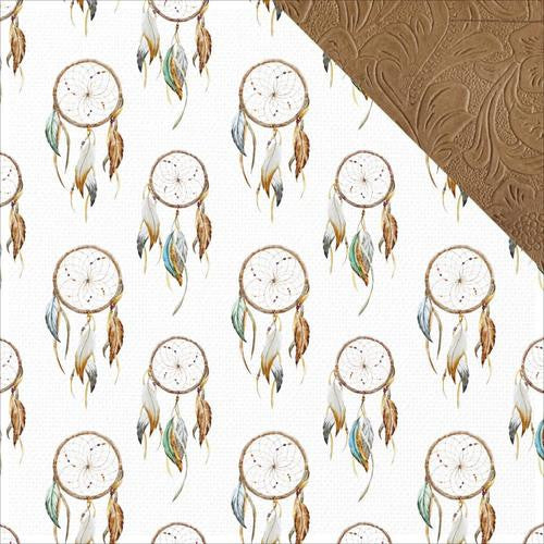 Boho Dreams 12x12 Scrapbook Paper - Dreamcatcher