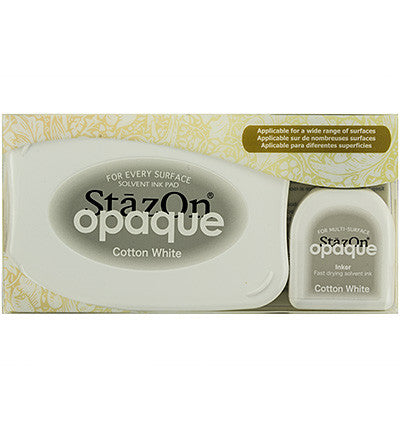Stazon Opaque & Inker: Cotton White Set