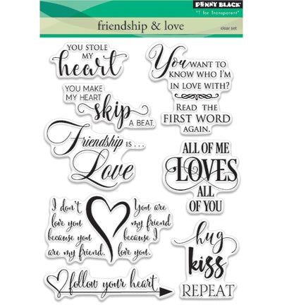 Friendship & Love Clear Stamp Set