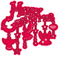 Crafts Too Cutting and Embossing Stencils - Merry Christmas Angels