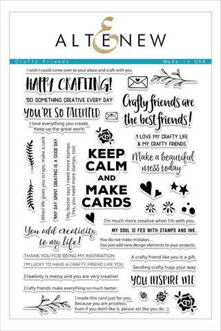 Altenew  Crafty Friends Stamp set