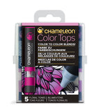 Chameleon 5 Color Tops Floral Tones Set