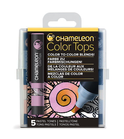 Chameleon 5 Color Tops Pastel Tones Set