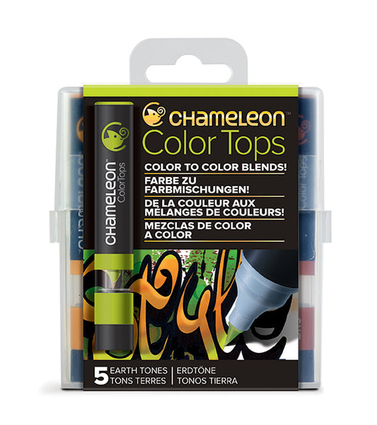 Chameleon 5 Color Tops Earth Tones Set