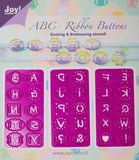 Joy! Crafts - C&E Stencils - Mery's ABC Ribbon Buttons