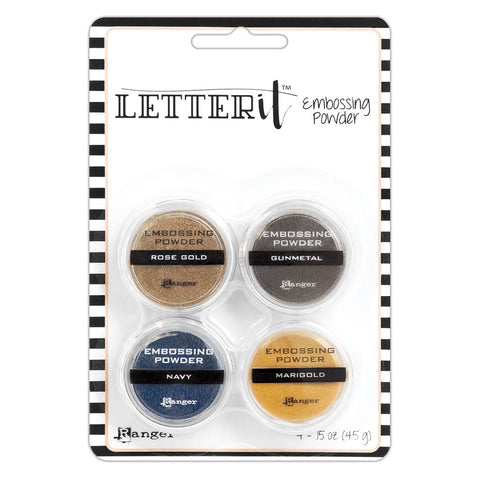LETTER IT EMB POWDER 4PK, METALLICS
