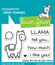 Lawn Fawn Llama Tell you Stamp