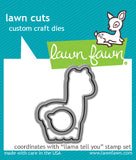 Lawn Fawn Llama tell you - lawn cuts