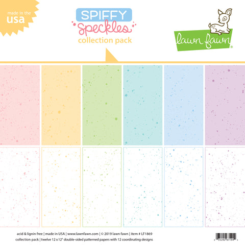 Lawn Fawn 12x12 Spiffy Speckles collection pack