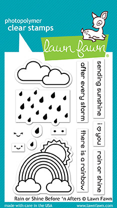 RESERVE Lawn Fawn  Rain or Shine Before 'n afters Stamp