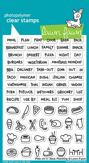Lawn Fawn Plan on it: Meal Planning