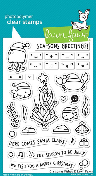Christmas Fishes Stamp