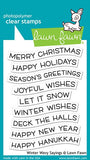 Winter Wavy Sayings  Stamp