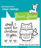 Winter Owl Stamp