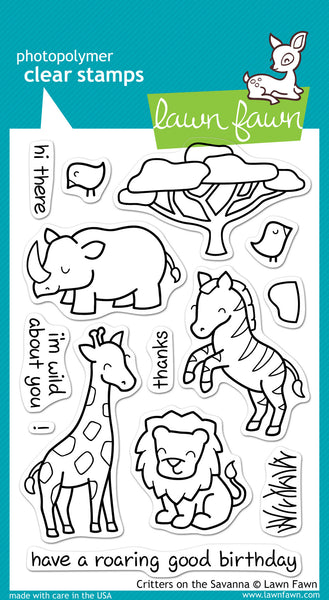 Critters On The Savanna Stamps - YourHobbyMarket