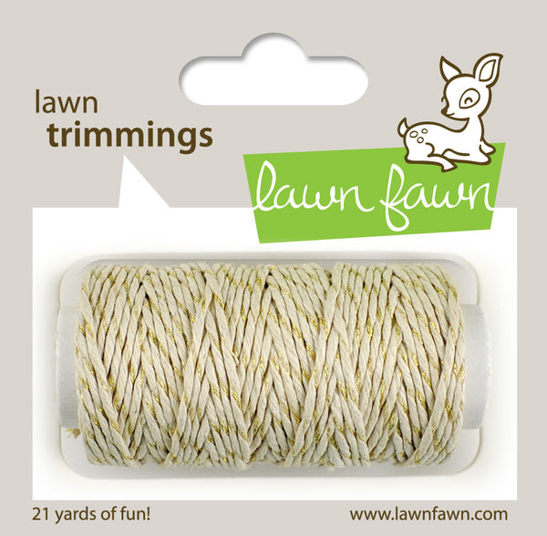 Lawn Trimmings Gold Sparkle