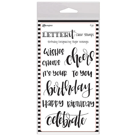 LETTER IT STAMP SET: BIRTHDAY