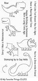 Delightful Dinosaurs Clear Stamps