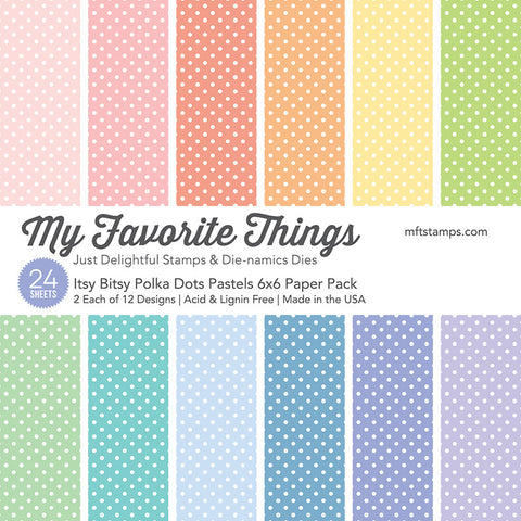Itsy Bitsy Polka Dots Pastels 6x6 Paper Pack