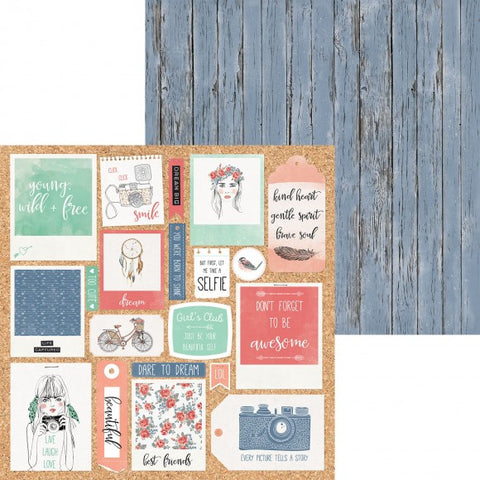 Boho Dreams 12x12 Scrapbook Paper - Bohemian