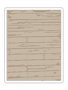Sizzix WOOD PLANKS Texture Fades Embossing Folder