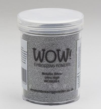 WOW Embossing Powder Metallic Silver Large Jar