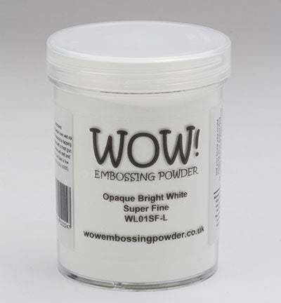 WOW Embossing Powder OPAQUE BRIGHT WHITE Super Fine Large Jar