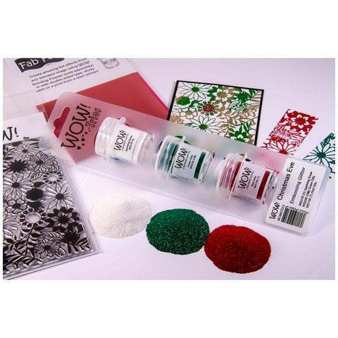 Wow Trio Embossing Powder Glitter Christmas Eve | Set of 3
