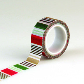 Echo Park Decorative Tape - Holiday Stripes