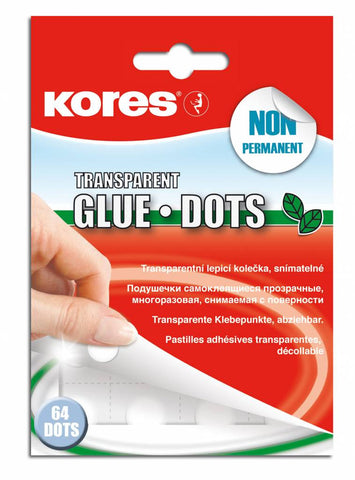 Kores Glue Dots Transparant Non-permanent