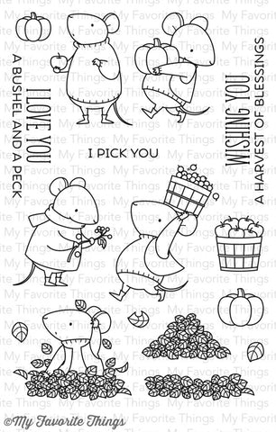 My Favorite Things BB Harvest Mouse Clear Stamp