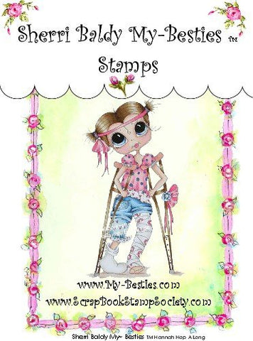 My-Besties Hannah Hop A Long Clear Stamp