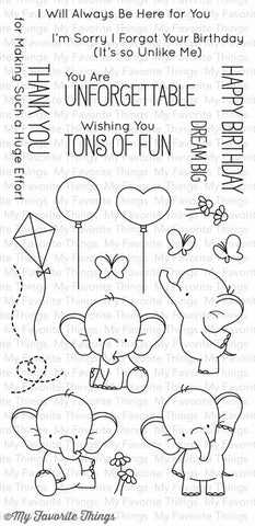 Adorable Elephants Clear Stamps