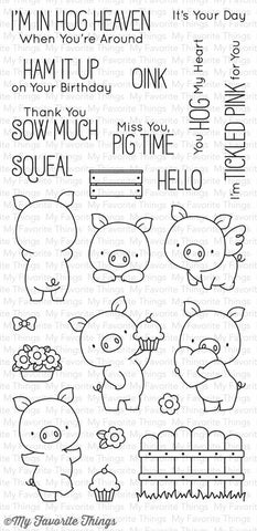 My Favorite Things Hog Heaven Clear Stamps