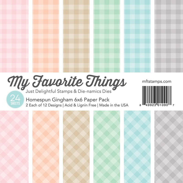 My Favorite Things Homespun Gingham 6x6 Inch Paper Pack