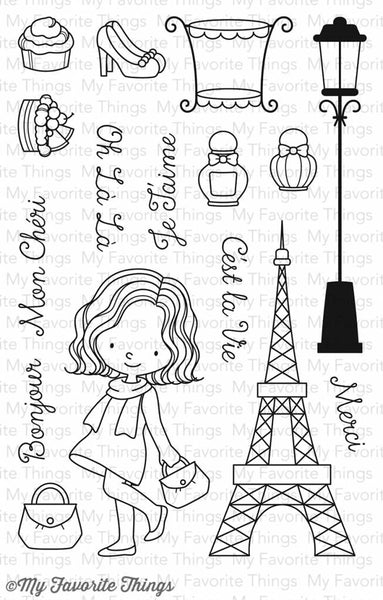 My Favorite Things Mon Cheri Clear Stamps