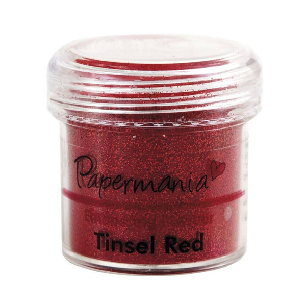Papermania Embossing Powder (1oz) - Tinsel Red