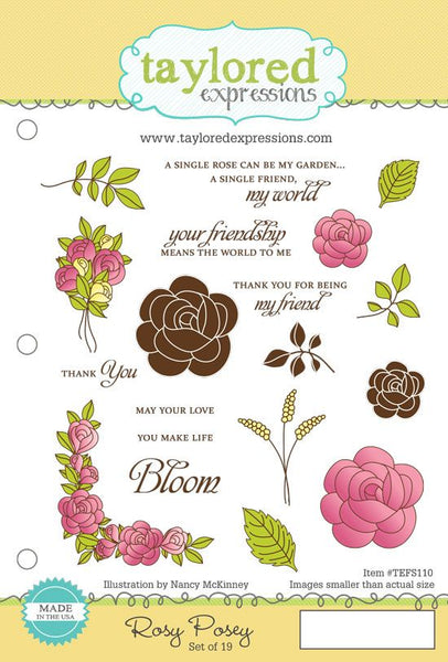 Rosy Posey Rubber Stamp