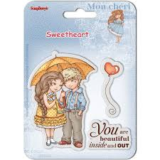 "Scrapberry's Sweetheart Clear Stamps 4""X4"" - Beautiful"