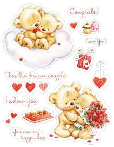 My Little Bear To Wonderful Couple Stamps