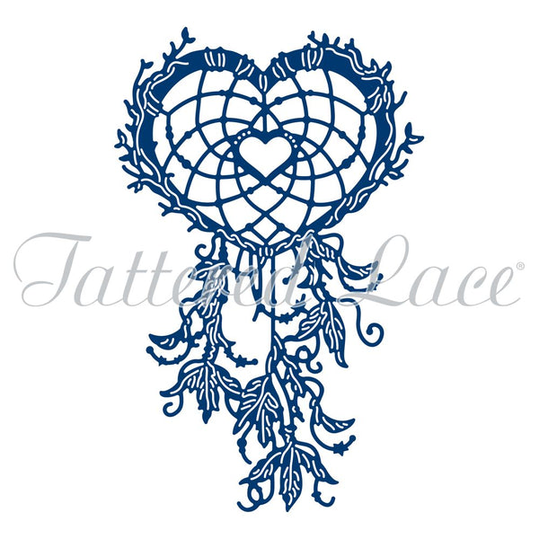 Tattered Lace Heart Dream Catcher