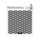 "Xcut 6 x 6"" Embossing Folder - Wicker"
